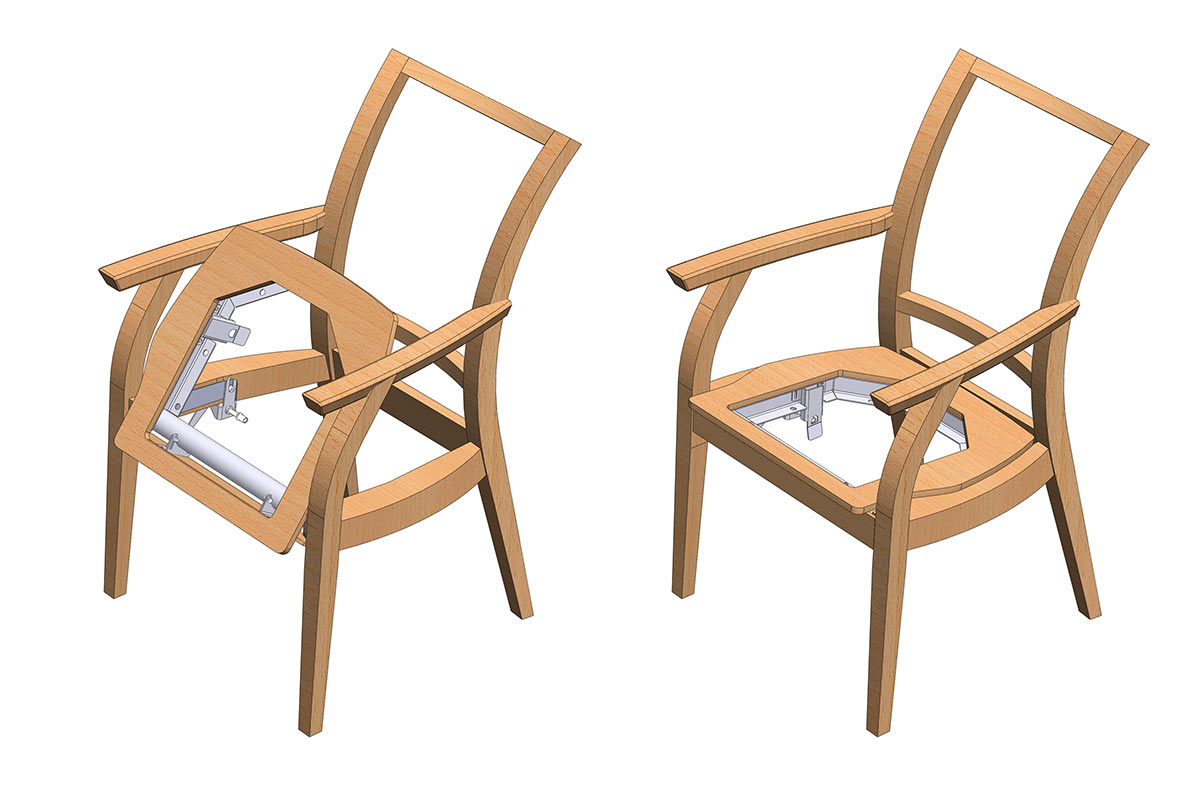 Further development in the CAD environment led to a economically producable solution.  sc 1 st  Mark Hetterich & Mark Hetterich | easyUP Chair