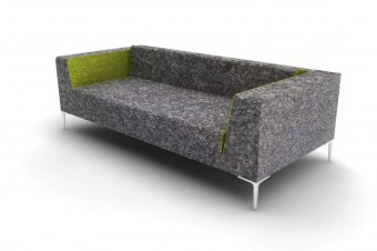A rendering of the sofa concept before fabrication.