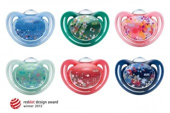 The NUK Freestyle soother won the Red Dot Design Award 2013 for product design.