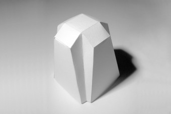 A model folded from paper was the origin of this design.