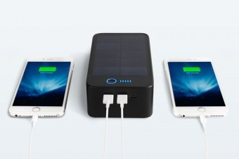The Solarbank can charge two devices simultaneously.
