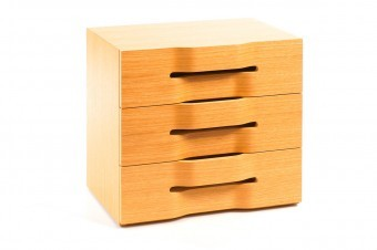A cabinet with queues from the era of Scandinavian design.