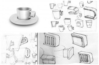 Sketches rendering part of the design process